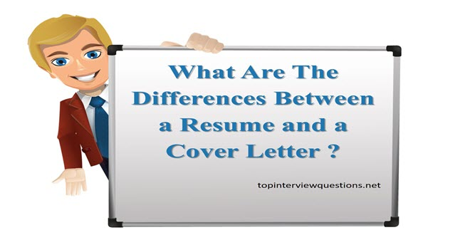 Top Interview Questions  Difference Between Resume And Cover Letter