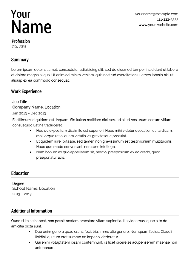 What All Should Be Listed On A Resume